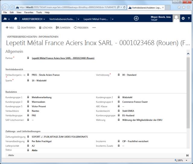 SAP_02_Screen_Acount_Vertriebsbereich_Fomular 2013