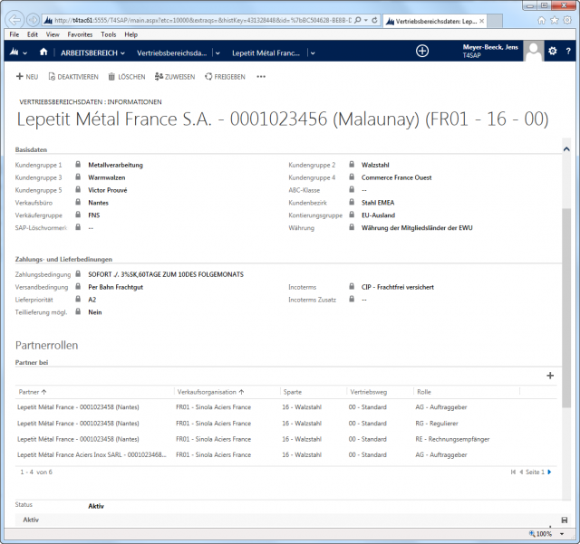 SAP_02_Screen_Account_Vertriebsbereich_Partnerrollen_Ebene_Vertriebsbereich 2013