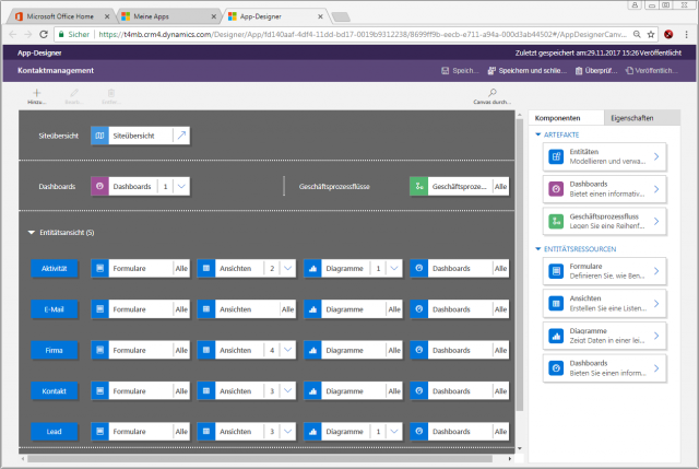 Dynamics 365 Unified Interface App Designer