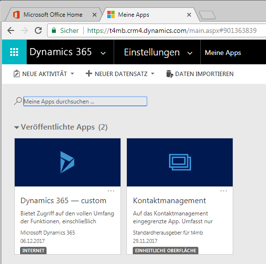Dynamics 365 Unified Interface App