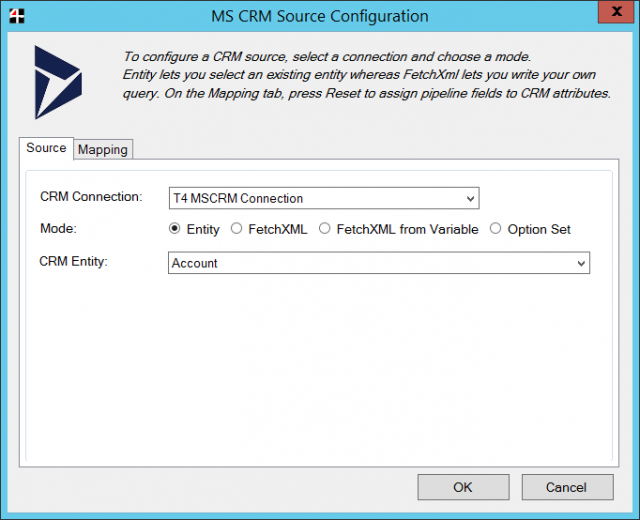 Team4 Dynamics 365 CRM SSIS Connector Screenshot Source
