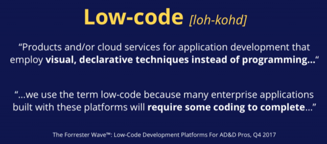 Definition of Low-code